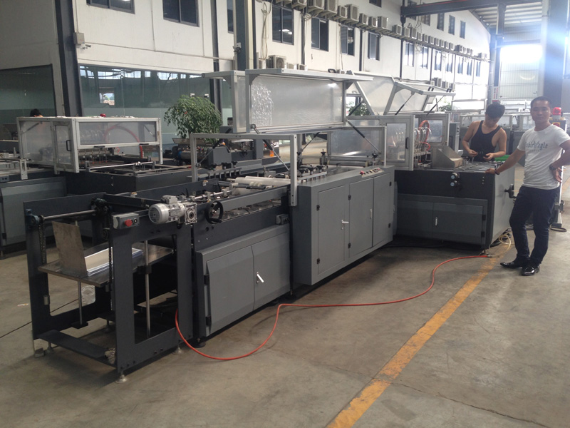 Automatic Book Hardcover Case Making Machine